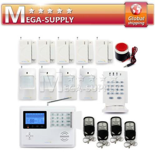 Wireless Home GSM PSTN Telephone Security Burglar Alarm System + Password Keypad