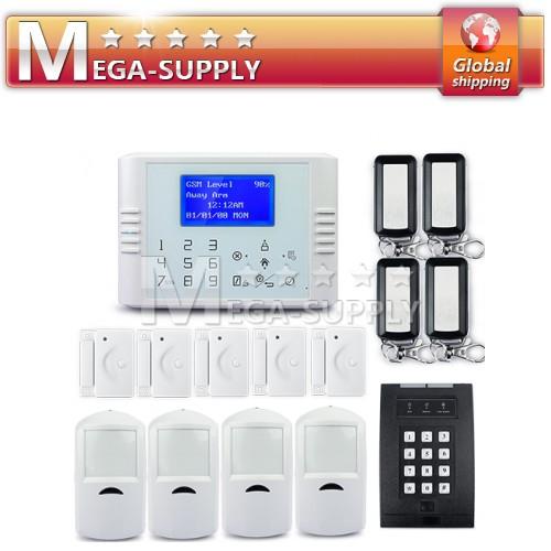 Wireless GSM Phone Line Home Touch Keypad Securtiy Alarm System Password Keypad