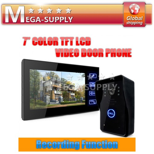 Video Door Phone Doorbell Intercom Home Security System Recording Photo Taking