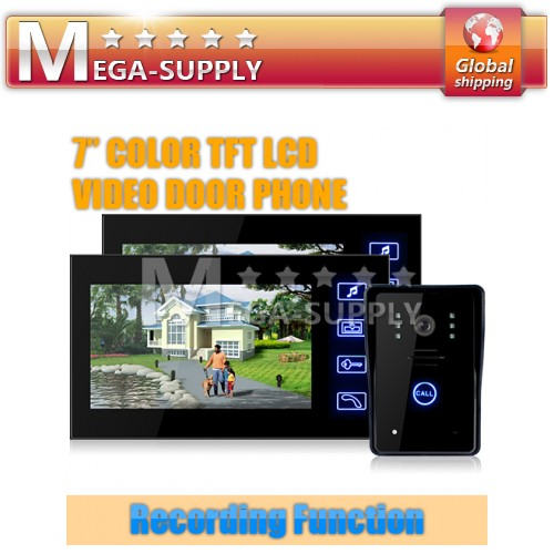Wired Video Door Phone Doorbell Intercom System Recording Photo Taking Function