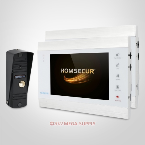 """HOMSECUR 7"""" Wired Video Door Entry Security Intercom with Touch Keypad Monitor"""